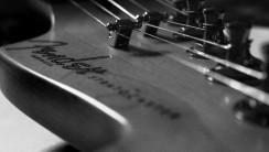 Guitar Wallpaper Pre CBS Fender Stratocaster Headstock Black