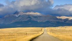 Photography Road On The Montana Plains Near Glacier National Park