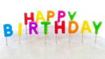Happy Birthday Colorful And White Background Wallpaper