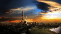 Awesome Big City 3D Fantasy Widescreen HD Wallpapers