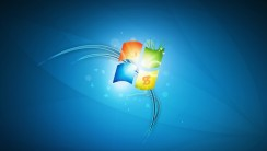 Windows 7 3D Logo Simple Design High Quality Wallpaper