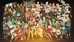 All Characters On Naruto Anime Cartoon Movie HD Wallpaper