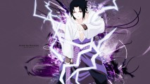 Uchiha Sasuke Chidori HD Wallpaper Background Anime Manga