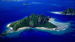 Beautiful Monu Island Fiji Nature Aerial Photography HD Wallpaper