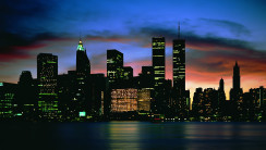 Amazing Sky City Night Photography Widescreen HD Wallpaper
