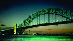 City Night Bridge Scene Photography Picture HD Wallpaper Desktop