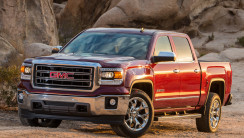 2014 Red GMC Sierra 1500 Front Three Quarters View Photo Picture