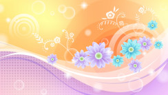 Abstract Flowers Cloroful Design Wallpapers HD Widescreen For Desktop
