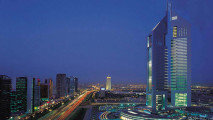 Dubai City When Night Wallpaper HD Widescreen For PC Desktop