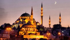 Amazing Building In Istanbul When Sunset Picture Wallpaper HD Widescreen