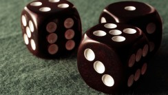 Three Brown Dice Photo Picture HD Wallpaper For Your PC Desktop