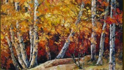Original Abstract Oil Painting Landscape Image Picture HD Wallpaper