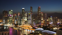 Amazing Singapore When Night Come Photo Picture HD Wallpaper
