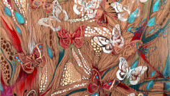 Original Paintings Abstract Art Butterflies Picture Image HD Wallpaper