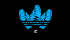 Adidas Logo With Shoes Black Background HD Wallpaper Image
