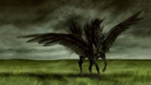 Awesome Angel Black Horse HD Wallpaper Image For Your PC Laptop