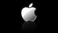 Free Download iPhone 5 White Logo Black Background HD Wallpaper
