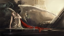 Beautiful Angel And Big Wings HD Wallpaper Picture Image For PC Desktop