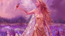 Beautiful Angel And Bird Animal HD Wallpaper Widescreen For PC Computer