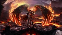 Awesome Dark Angel And Fire HD Wallpaper Image For Your PC Laptop