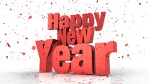 Happy New Year 2014 White HD Wallpaper Background Picture