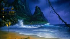 Fantastic Fine Art Dark Blue Sky Wallpaper HD Widescreen For PC Computer