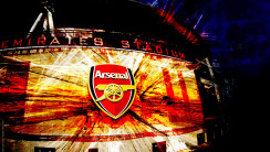 Awesome Arsenal Logo At Emirates Stadium HD Wallpaper Image