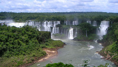 Iguazu Falls Waterfalls Between Brazil And Argentina Photo Picture