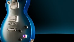 Beautiful Blue Gibson Les Plaul HD Wallpaper Widescreen Desktop