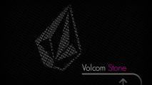 Grey Volcom Stone Logo Black Background HD Wallpaper For PC Desktop