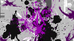 Volcom Black Purple Art Abstract HD Wallpaper Image For Your PC Desktop