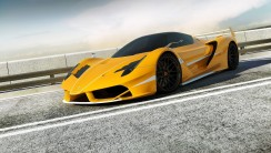 Awesome Yellow Ferrari F70 HD Wallpaper Picture Free Download