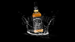 Awesome Jack Daniels Water Black Background HD Wallpaper