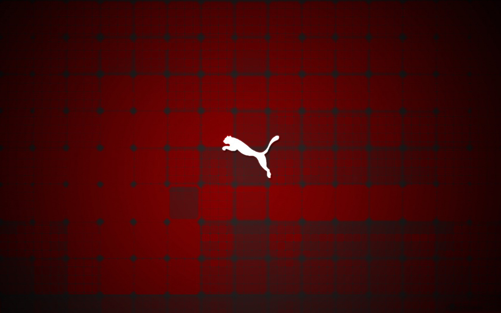 White Puma Logo Red Background HD Wallpaper Image For Your PC ...