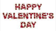 Red Happy Valentine's Day White Background HD Wallpaper