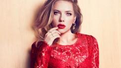 Scarlett Johansson in red lace wallpaper