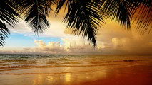 Clouds and Beach HD Wallpaper