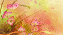 Flower Artwork HD Wallpaper