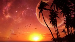 Tropical Sunset Abstract HD Wallpaper
