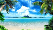 Tropical Beach HD Wallpaper