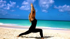 Yoga Warrior Virabhadrasana Pose HD Wallpaper