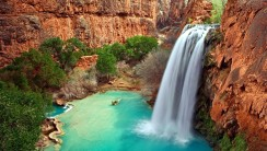Havasu Falls in Grand Canyon HD Wallpaper