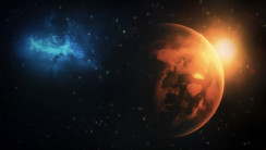 Planet and Stars HD Wallpaper