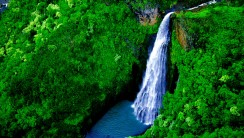Manawaiopuna Falls HD Wallpaper