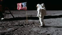 Buzz Aldrin 1969 Flag on the Moon HD Wallpaper